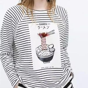 Zara unique kawaii ramen food sweater jersey top
